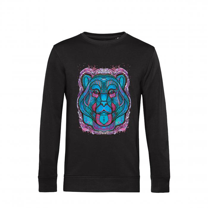 Psychedelic Blue Bear- bluza unisex [0]