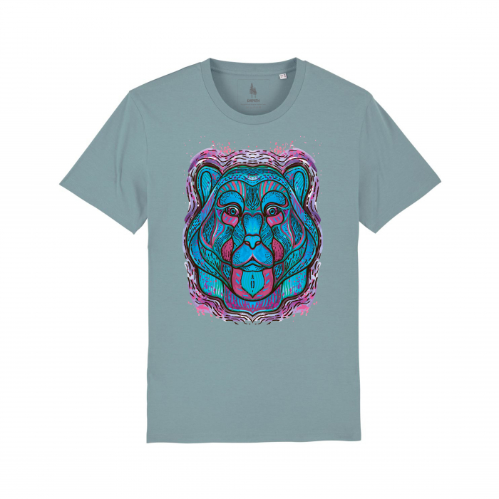 Psychedelic Blue Bear- tricou unisex [4]