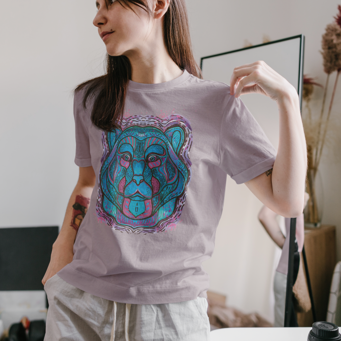 Psychedelic Blue Bear- tricou unisex [0]