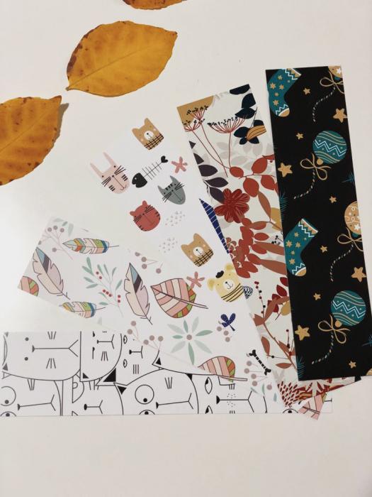 Semn de carte: Frunze Pastel 3