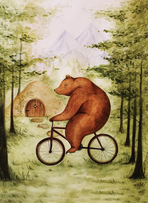 Tablou Ursul pe bicicleta 2