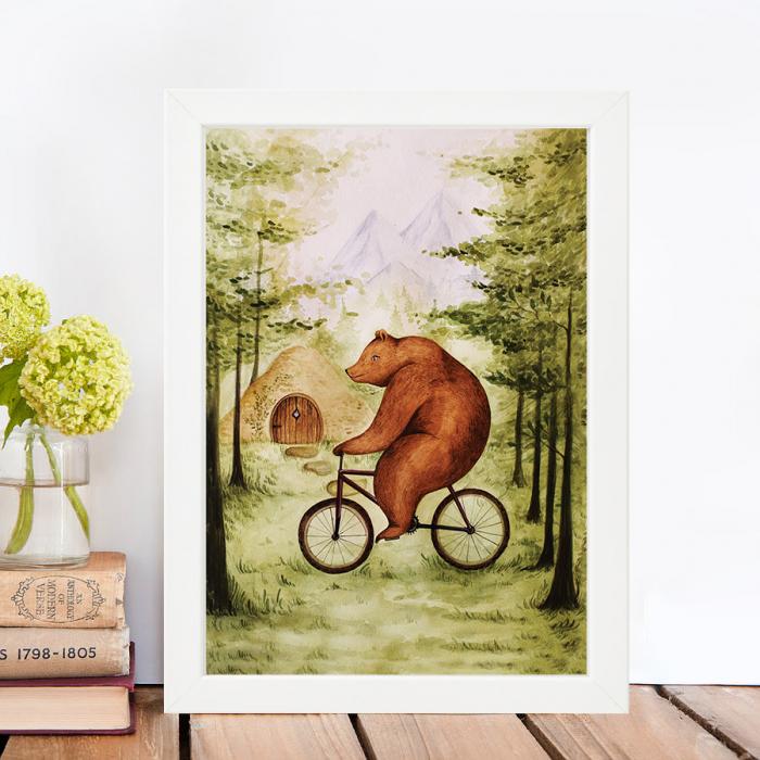 Tablou Ursul pe bicicleta 1