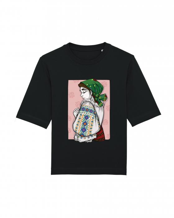 Tricou dama, relaxed fit, Romancuta Bistrita Mocod 2