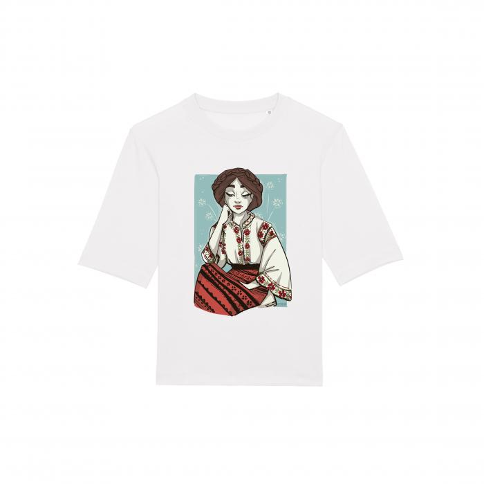 Tricou dama, relaxed fit, Romancuta Dobrogea 2
