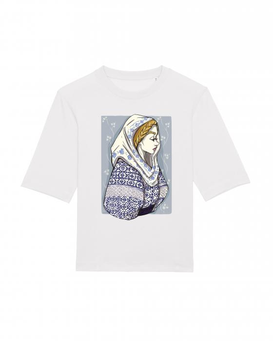 Tricou dama, relaxed fit, Romancuta Mehedinti 1