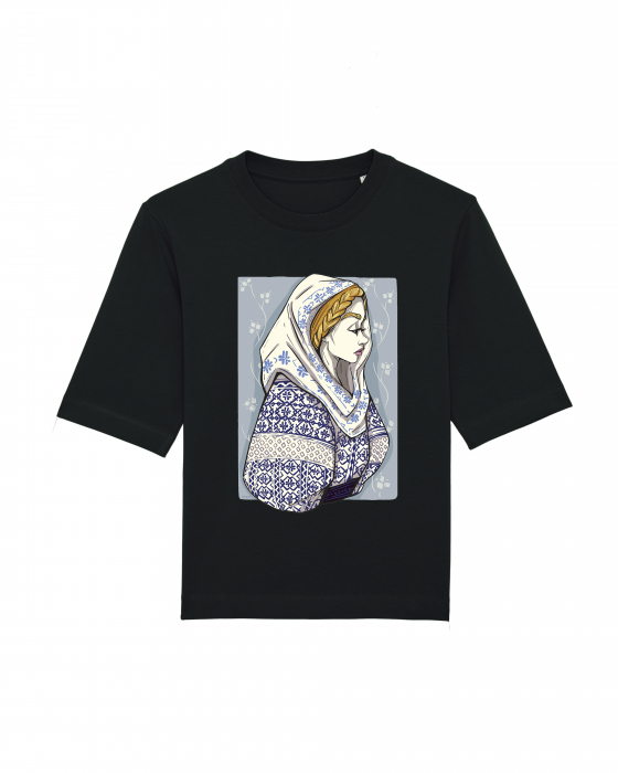 Tricou dama, relaxed fit, Romancuta Mehedinti 2