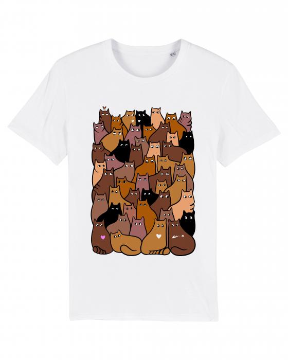 Tricou grafica Cats Pattern 2 by Cristina Ion 1