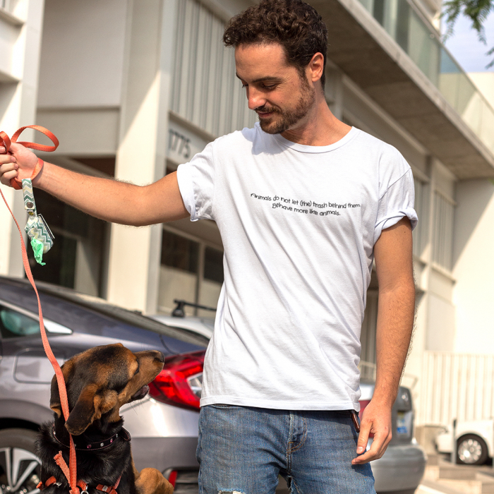 Tricou Unisex - Behave more like animals. 0