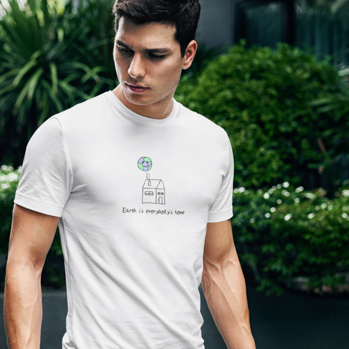 Tricou unisex - Earth is everybody's home 0