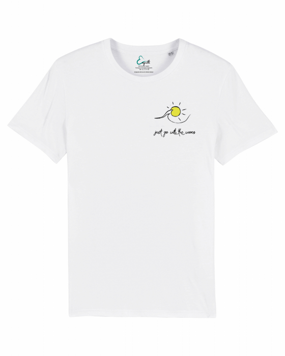 Tricou unisex - Go with the waves 1