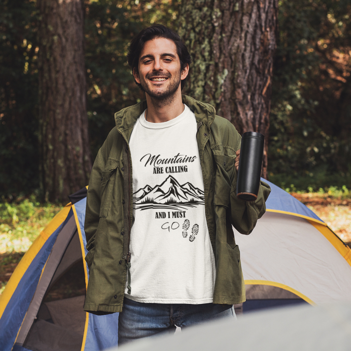 Tricou unisex - Mountains are calling 1 0