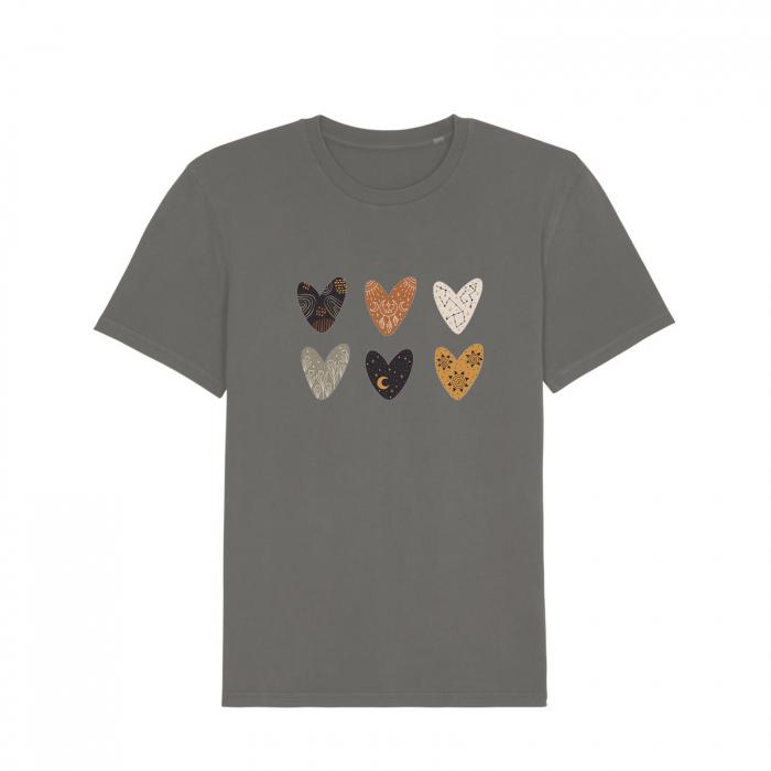 Tricou unisex vintage - BH Hearts [0]