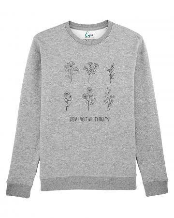 Bluza unisex Grow positive thoughts1