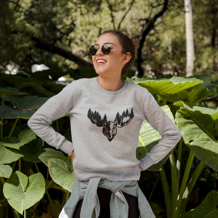 Bluza unisex The forest deer0