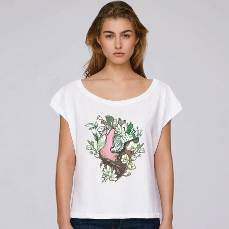 Love Nature Pink Heart - tricou dama oversized [0]