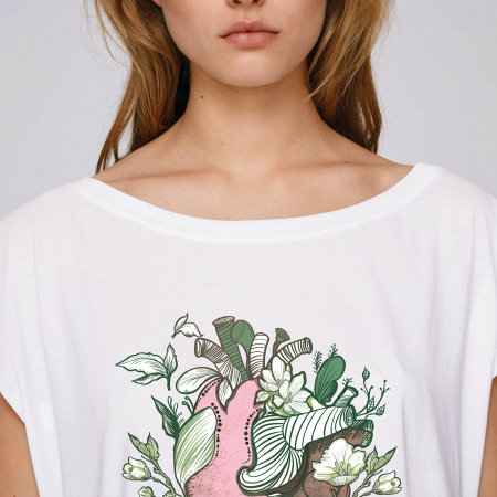 Love Nature Pink Heart - tricou dama oversized [1]