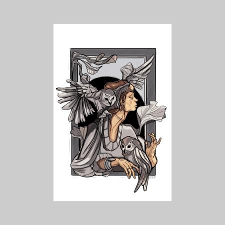 Owl whisperer 2 -print de arta1