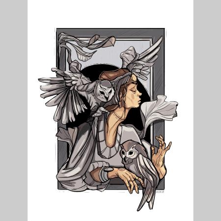 Owl whisperer 2 -print de arta0