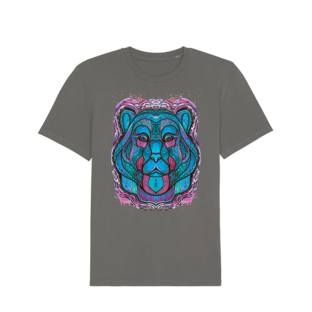 Psychedelic Blue Bear- tricou unisex [3]
