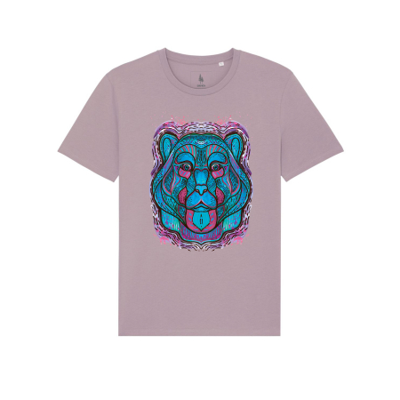 Psychedelic Blue Bear- tricou unisex [1]