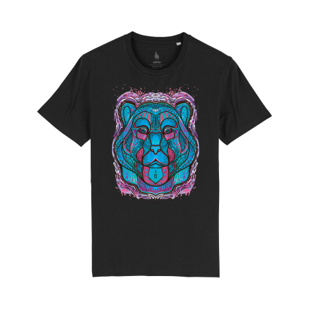 Psychedelic Blue Bear- tricou unisex [5]