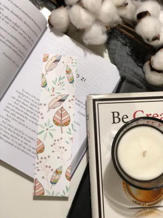 Semn de carte: Frunze Pastel2