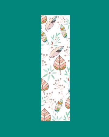 Semn de carte: Frunze Pastel0