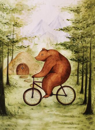 Tablou Ursul pe bicicleta2