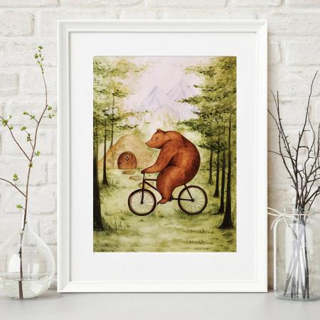 Tablou Ursul pe bicicleta0