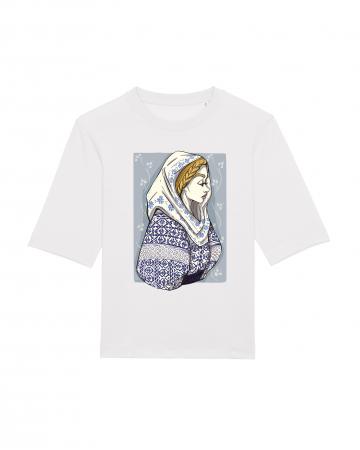 Tricou dama, relaxed fit, Romancuta Mehedinti1