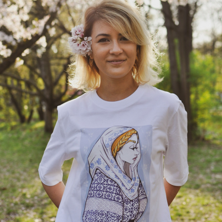 Tricou dama, relaxed fit, Romancuta Mehedinti [0]