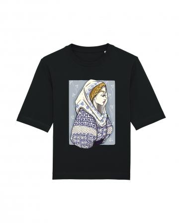 Tricou dama, relaxed fit, Romancuta Mehedinti2