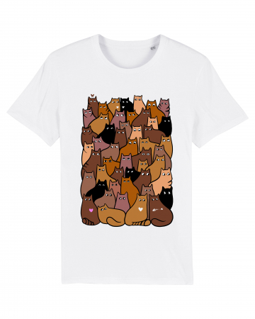Tricou grafica Cats Pattern 2 by Cristina Ion1