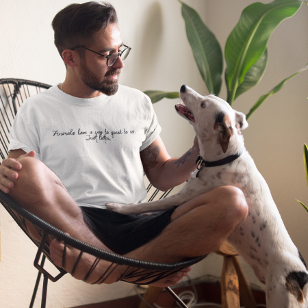 Tricou Unisex - Animals have a way to speak to us0
