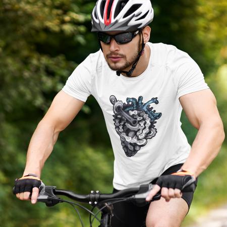 Tricou unisex - Bikers heart0