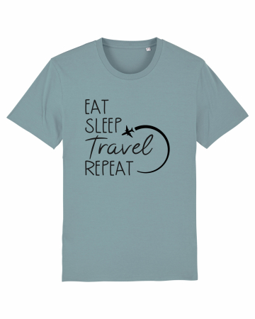 Tricou Unisex - Eat Sleep Travel REPEAT2