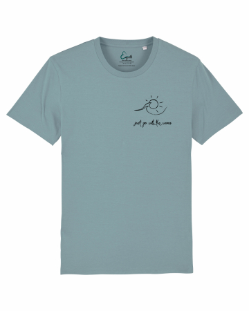 Tricou unisex - Go with the waves1
