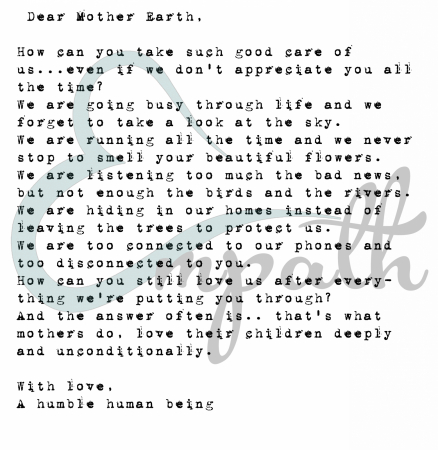 Tricou Unisex - Letter to Mother Earth1