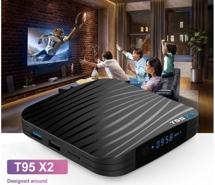 T95X2 Mediaplayer Smart TV Box  2 GB si 16 GB RAM miniPC Android 8.1 0