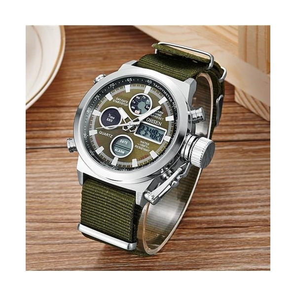 OHSEN ceas military, army, sport, dual core 4