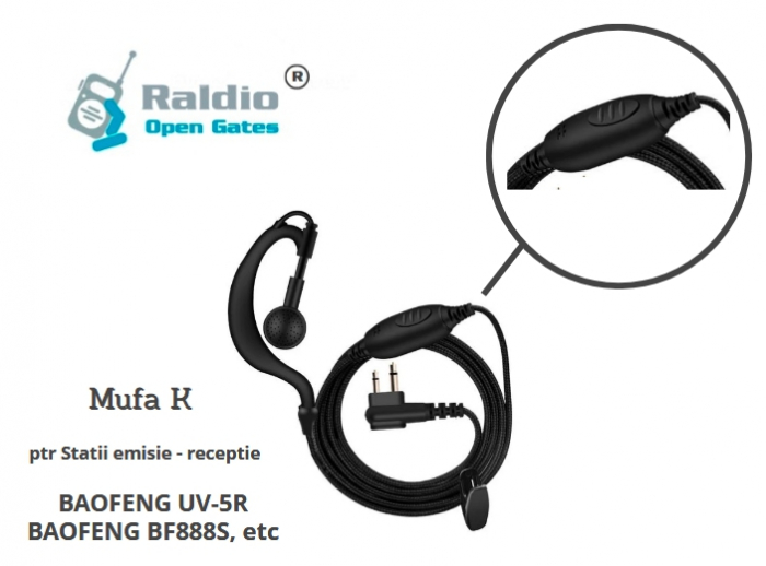Raldio - Casti ptr Statii radio mufa K - caliatate OK 0