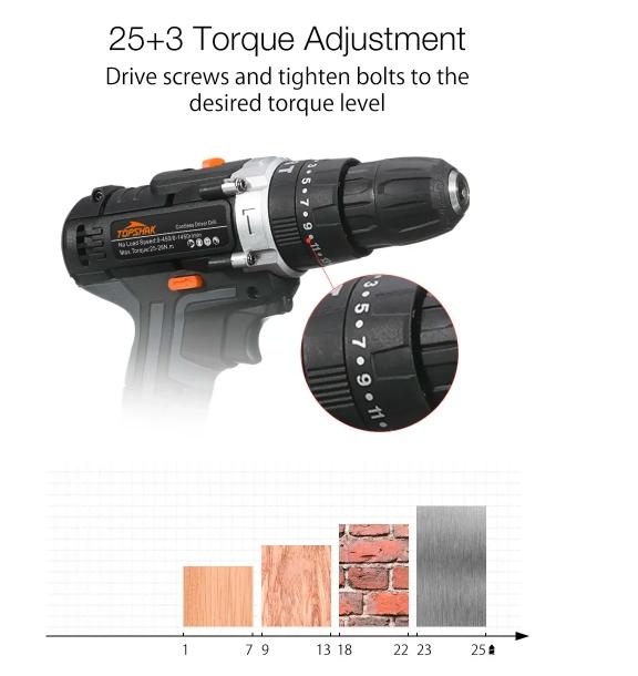 Topshak - Masina gaurit cu percutie 1 acumulator LiIon 2A [1]