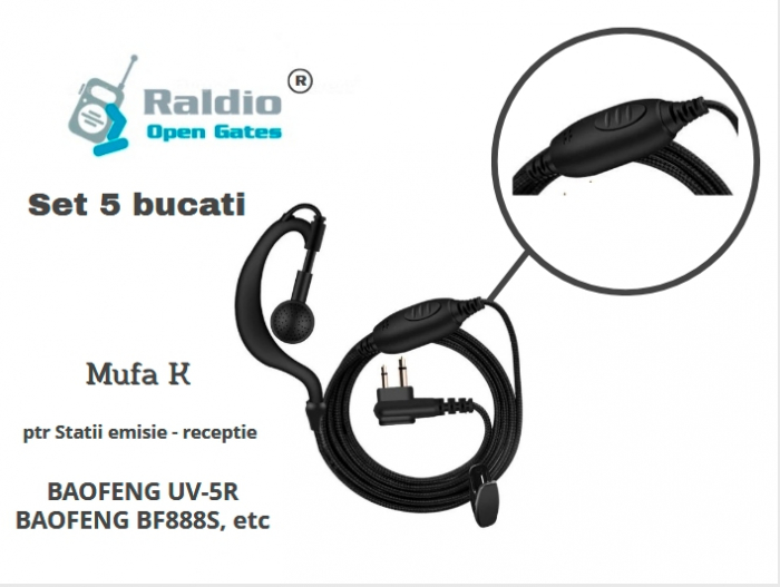 Raldio - Set 5 buc Casti ptr Statii radio mufa K - caliatate OK [0]