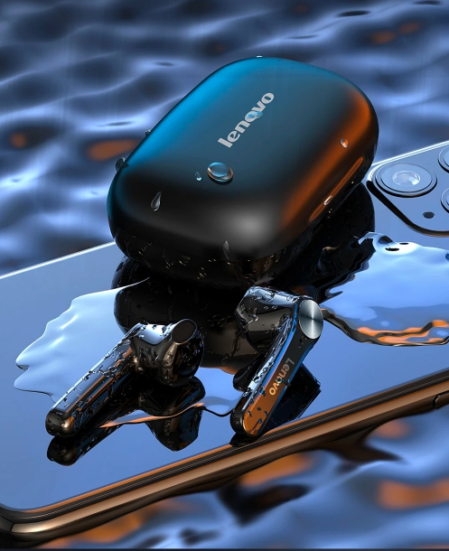Casti LENOVO  wireless bluetooth 5.0 5
