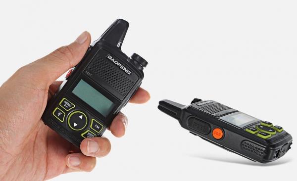 Statie radio Mini Walkie Talkie BF-T1, 20 canale UHF, radio FM  63 MHz - 108 MHZ 1