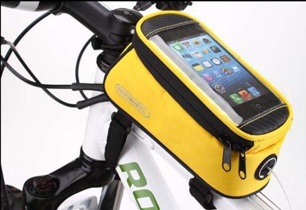 Borseta frontala ROSWHEEL bicicleta galben, mountain bike ptr Focus, Merida, Giant 0