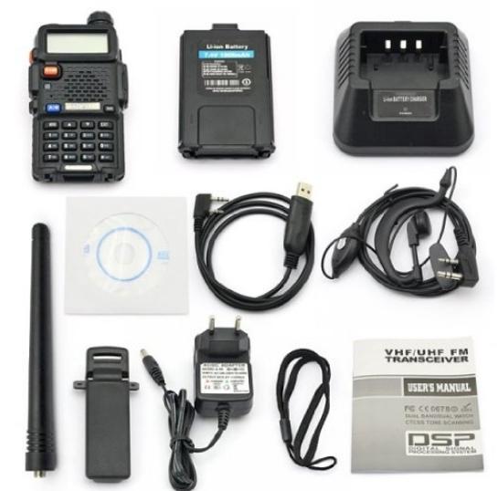 Set 10 statii radio Baofeng UV-5R Dual Band Tranciever + Bonus Casti cu microfon incluse 2