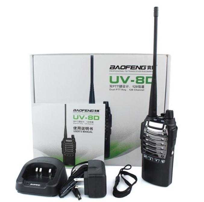 Statie Radio Walkie Talkie Baofeng UV-8D UHF 400 - 520MHz 16CH PROGRAMABILE 8W, radio UHF 65 - 108 MHz 3