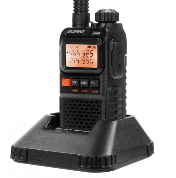 Statie radio Baofeng UV-3R+, Dual Band UHF, VHF, Walkie Talkie , FM tranciever, 99 CH, radio FM 88 - 108 MHz 2