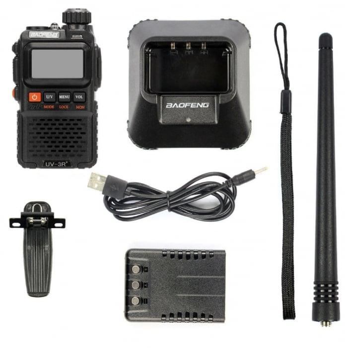 Statie radio Baofeng UV-3R+, Dual Band UHF, VHF, Walkie Talkie , FM tranciever, 99 CH, radio FM 88 - 108 MHz 4
